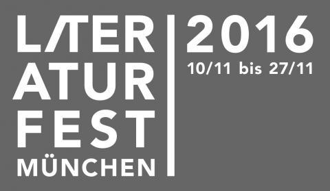 Logo Literaturfest München 2016